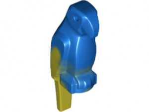 LEGO Papegaai (blauw met geel)