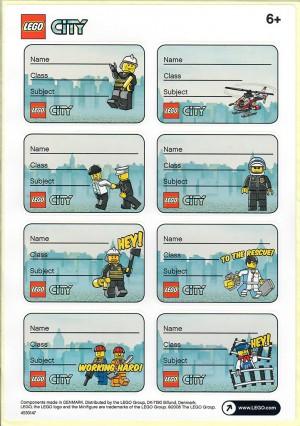 LEGO City etiketten voor school