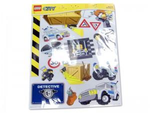 LEGO City Muurstickers Politie (grootverpakking)