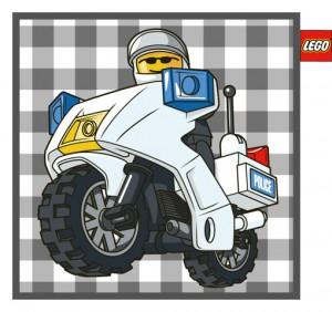 LEGO Kussen Motorpolitie 45 x 45