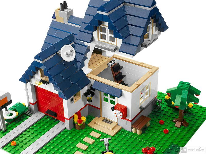 Lego creator haus mit garage 5891 brickexclusive lego for Modernes lego haus