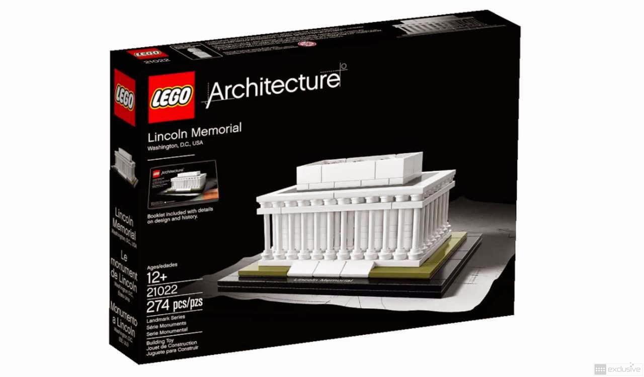 lego architecture lincoln memorial 21022 brickexclusive. Black Bedroom Furniture Sets. Home Design Ideas