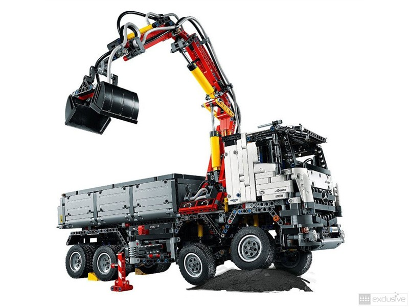 lego technic mercedes benz arocs 3245 42043 brickexclusive lego. Black Bedroom Furniture Sets. Home Design Ideas