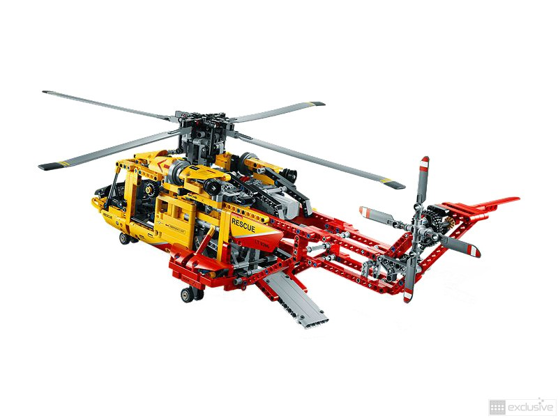 lego technic helicopter 9396 brickexclusive lego. Black Bedroom Furniture Sets. Home Design Ideas